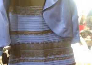 لباس آبی-سیاه حالا در رنگ طلایی-سفید تولید میشود!
