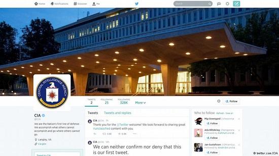 سازمان سیا هم توئیتری و فیسبوکی شد
