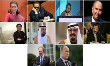 ثروتمندترین سیاستمداران سال ۲۰۱۴
