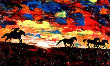 مرد نابینا، نقاشیهای شگفت انگیز میآفریند