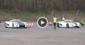مسابقه دو مدل از اتومبیل Koenigsegg + ویدیو