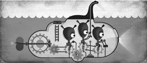 گوگل دودل و هیولای دریاچه لاک نِس!
