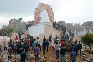 زلزله نپال، آثار تاریخی این کشور را نابود کرد