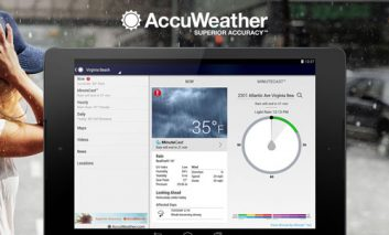پیش بینی دقیقه به دقیقه وضعیت آب و هوا با AccuWeather