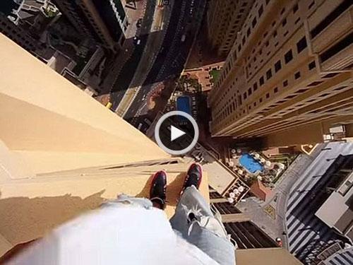 افرادی که ترس از ارتفاع دارند، این ویدئو را نبینند!