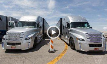 رانندگی با اولین کامیون خودران جهان
