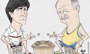 بازی مربیان برزیل و آلمان