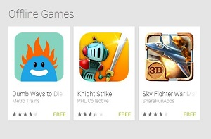 بازیهای آفلاین گوگل