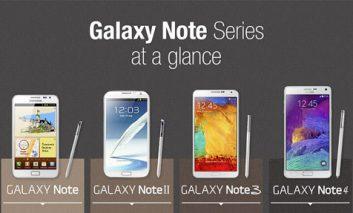 تمام Galaxy Noteهای سامسونگ