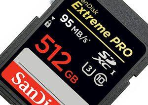 عرضه اولین کارت حافظه ۵۱۲ گیگابایتی جهان