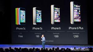 فروش بسیار بهتر آیفون ۶ نسبت به آیفون ۶ پلاس