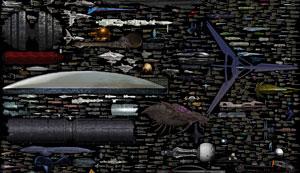 همه فضاپیماهای داستانهای علمی-تخیلی در یک نگاه