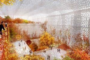 سالن تابستانی برای موزه پکن با پوششی پر زرق و برق