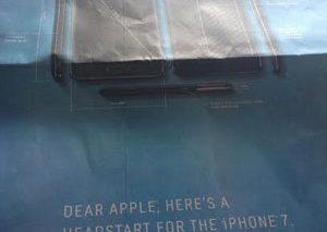جدیدترین حمله سامسونگ به اپل: انتشار تصویر نوت ۴ به عنوان نقشه فنی آیفون ۷