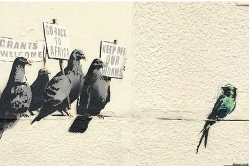 نقاشی دیواری جدید «بنکسی» از روی دیوار پاک شد