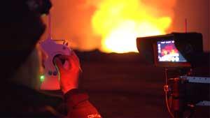 پرواز باورنکردنی GoPro در قلب فورانهای آتشفشانی + ویدیو
