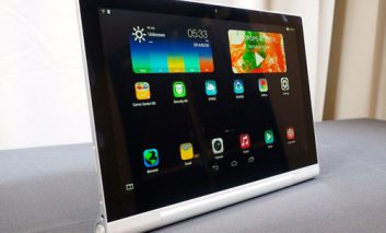 عرضه تبلت تازه لنوو با همکاری اشتون کوچر:  Yoga Tablet 2 Pro مجهز به پروژکتور