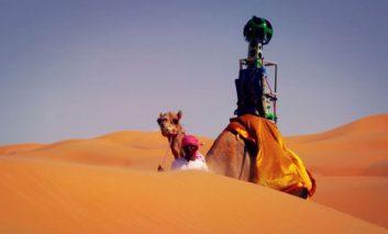 گوگل به همراه شترها به صحرا میرود + ویدیو