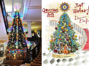 «دولچه و گبانا» درخت کریسمس طراحی میکنند