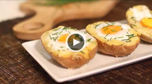 خوراک سیبزمینی با تخممرغ
