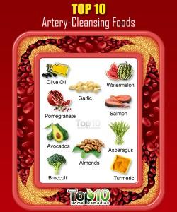 ۱۰ ماده غذایی فوقالعاده برای پاکسازی عروق