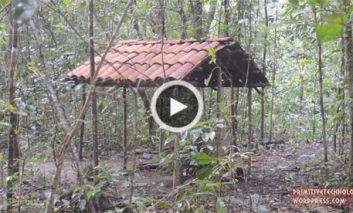 ساخت سایبان با سقفی از سفال شیروانی