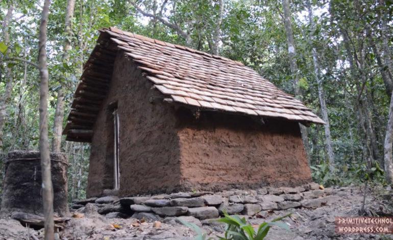 ساخت کلبهای با سقفی از سفال