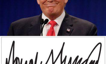 نمونه امضای تمام رئیس جمهورهای امریکا