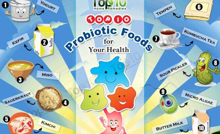 ۱۰ غذای پروبیوتیک که برای سلامتی مفید است
