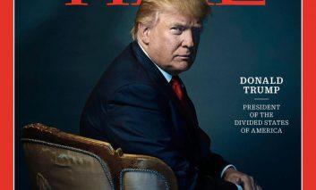 """ترامپ شخصیت اول سال جلد مجله """"تایم"""" شد"""