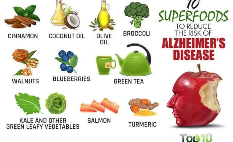 ۱۰ ماده غذایی برتر برای کاهش احتمال ابتلا به آلزایمر