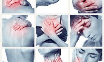 ۱۸ نقطه حساس بدن برای شناسایی فیبرومیالژیا
