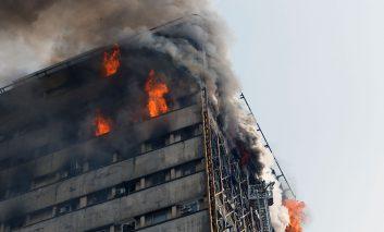 گزارش تصویری حادثه آتشسوزی ساختمان پلاسکو