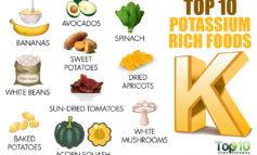 ۹ ماده غذایی سرشار از پتاسیم