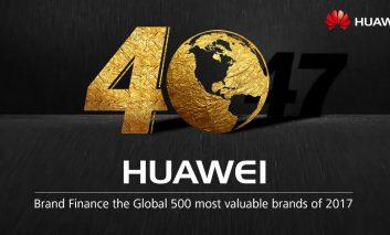 کسب جایگاه ۴۰ام کمپانی هواوی در میان باارزشترین برندهای دنیا