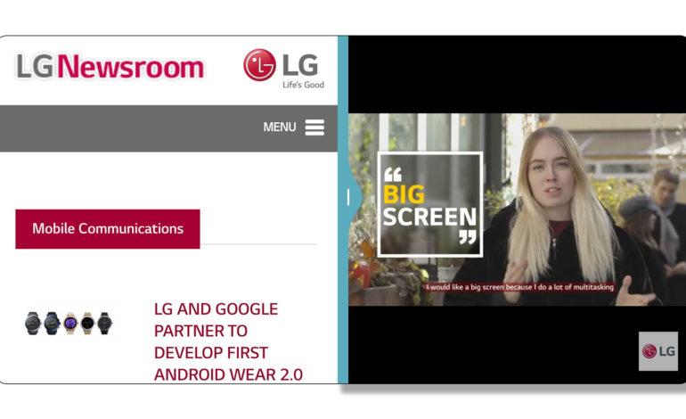 گوشی G6 با استفاده از صفحهنمایش FULLVISION بهرهوری و کاربری راحت و بینظیری در اختیار مصرفکننده قرار میدهد