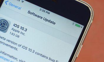 لباس نوی iOS 10.3 بر تن سیستمعامل اختصاصی اپل