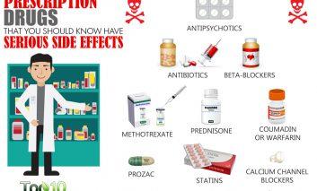 ۱۰ دارویی که عوارض جانبی جدی دارند