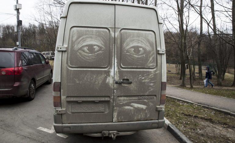 کامیونهای کثیف؛ بوم نقاشی برای هنرهای خیابانی در مسکو