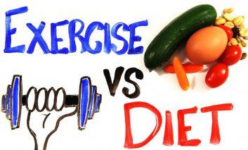 کاهش وزن با ورزش یا رژیم غذایی؟