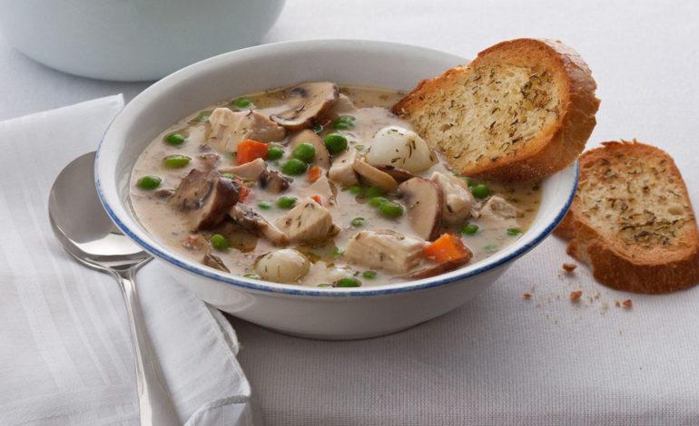 سوپ خامهای بوقلمون