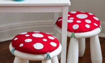 صندلی بامزه قارچی بسازید!