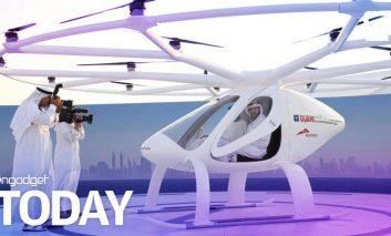 آزمون استفاده از تاکسیهای پرنده در دوبی
