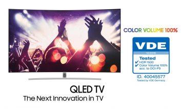 QLED سامسونگ اولین تلویزیون با حجم رنگ صددرصد