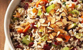 برنج قهوهای مخلوط