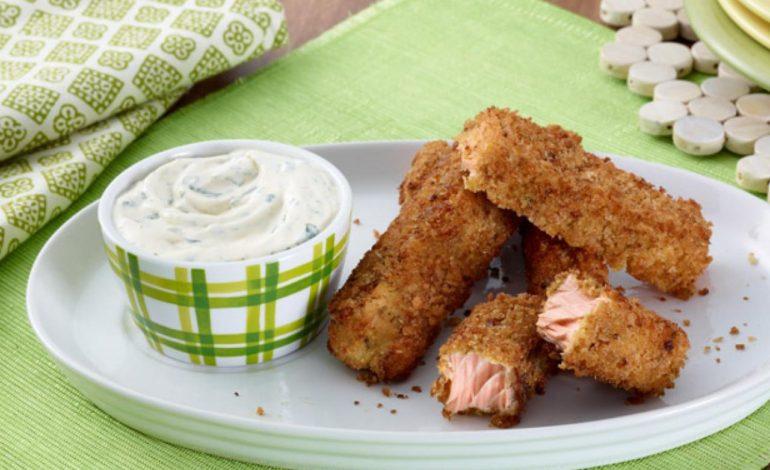 استیک ماهی و پنیر پارمسان