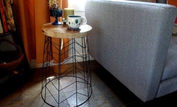با وسایل ساده، میزی مدرن بسازید
