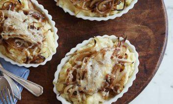 گراتین سیبزمینی و پیاز شیرین