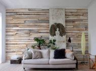 طراحی دکوراسیون داخلی منزل با کفپوش لمینت پارکت و کاغذ دیواری