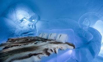 هتل یخی سوئد؛ شاهکاری بلورین از هنر معماری با یخ و برف